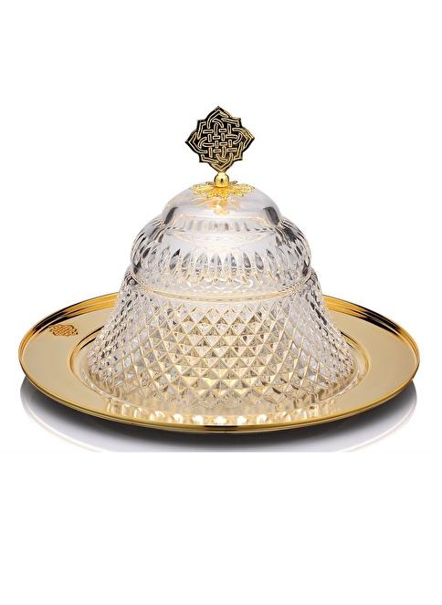Decoristan Kristal Piramit Altın Sahan Altın